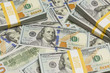 Abstract Stacks of the U.S. New One Hundred Dollar Bill