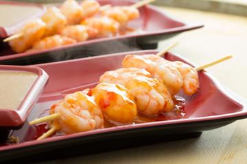 Shrimp shashlik