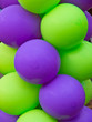 Green and Purple balloons
