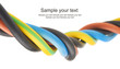 closeup of a electric cable on a white background - 57720292