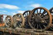Wheels from steam locomotive