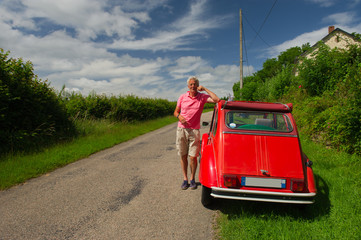 Owner with French car