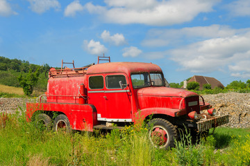 Old French fire truck