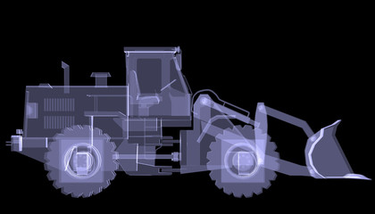 Bulldozer. X-ray