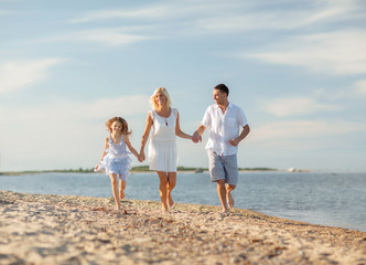 happy family at the seaside