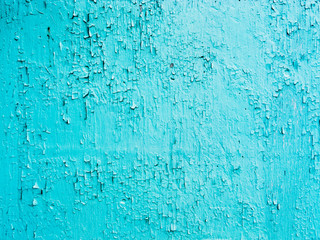 Blue paint background grungy cracked and chipping
