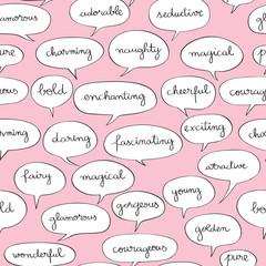 wonderful speech bubbles pattern