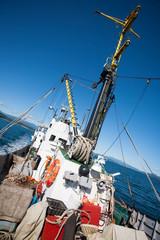 Fishing vessel is at sea