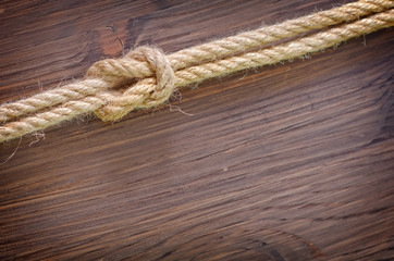 rope on wooden backgrounds