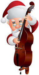 Santa Claus Double bass Player
