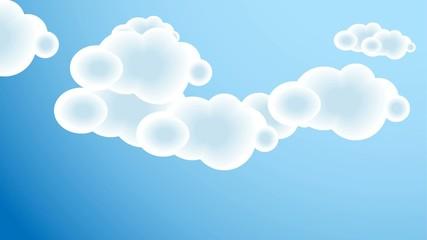 Beautiful clouds over blue sky, HD 1080