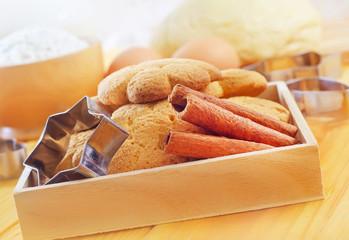 Fresh sweet cookies with cinnamon