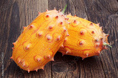 Two fruits Kiwano - African horned cucumber