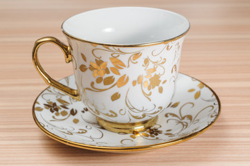 Fancy Cup & Saucer Isolated