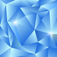 Shiny Blue Triangles