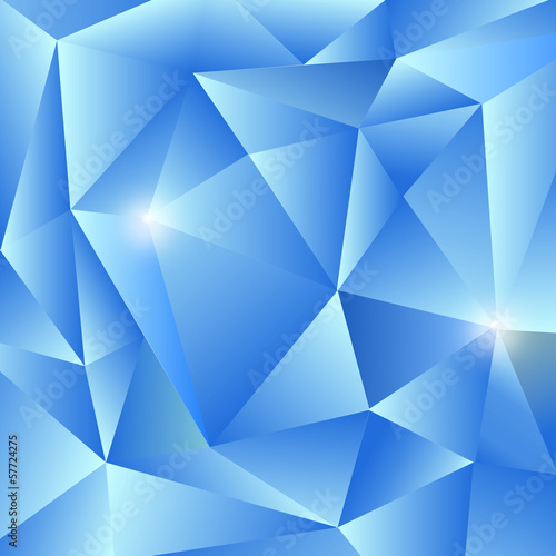 Shiny Blue Triangles