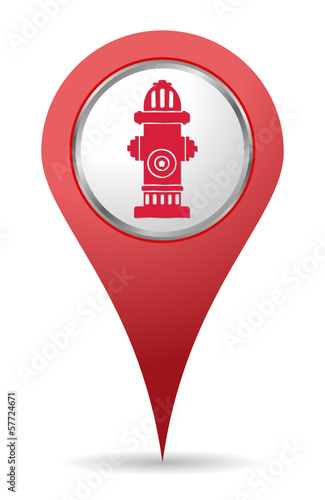 red Hydrant location icon for maps
