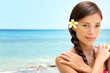 Beach wellness spa beauty woman