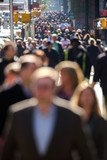 Fototapety Anonymous crowd walking on a street in New York