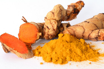 Tumeric roots herbal medicines.
