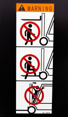 Safety sign for Forklift