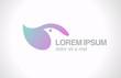 Logo Bird abstract design template. SPA Healthcare Cosmetcs
