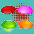 Paper Speech Bubble, Vector Illustration