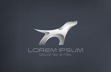 Logo Fashion luxury jewelry Dog metal abstract silhouette design