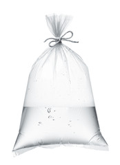 water in plastic bag