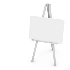 3d Blank art board, wooden easel