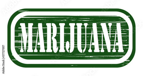 grunge stamp marijuana design