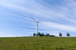 Постер, плакат: wind power generator on the grassland