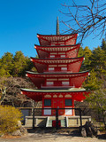 Chureito red pagoda at Fuji Mt, Japan.