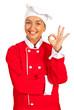 Chef woman show okay