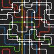Black abstract city transport scheme