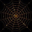 Vector illustration of glowing cobweb