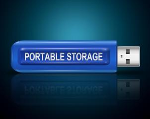 Portable storage concept.
