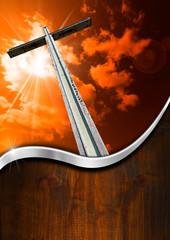 Religious Background Wooden Cross