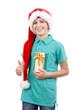 teenager and christmas gift