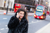 Young Woman on the Phone in London City