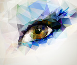 female eye created from polygons - 57731000