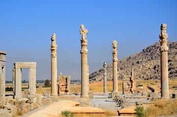 Apadana palace at Persepolis in Iran