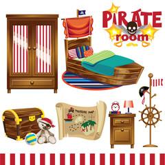 Pirate room set