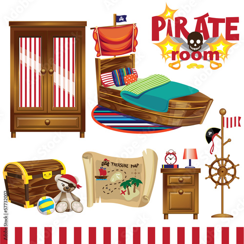 Pirate room set