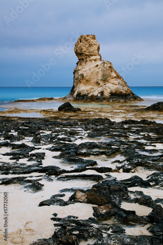 Cleopatra's beach famous rocks near  Marsa Matruh, egypt, night