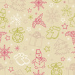 Seamless pattern of Christmas items