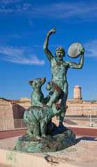 Sculpture of dancer and bears (Botinelly, 1911). Marseilles