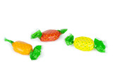 Candies or sweets on a white background. Clipping path included.