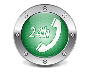 Techno green button call 24h