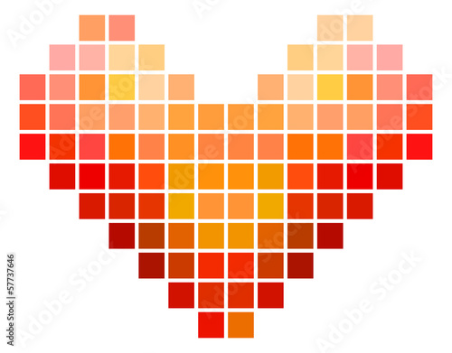 Mosaic Square Heart